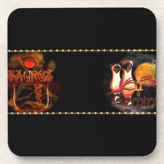 Valxart Taurus Gemini zodiac astrology cusp Beverage Coasters