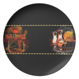 Valxart Taurus Gemini zodiac astrology cusp Dinner Plate