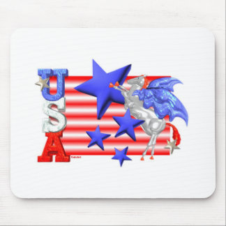ValxArt USA FLYING HORSE Mouse Pad