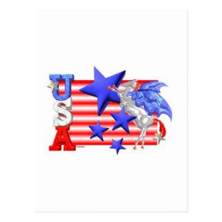ValxArt USA FLYING HORSE Postcard