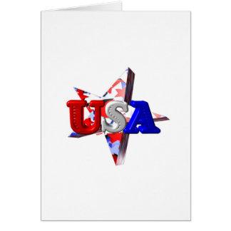 ValxArt USA start and stripes Greeting Card