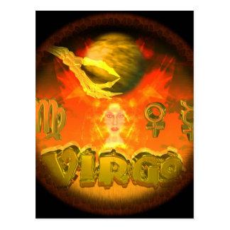Valxart Virgo zodiac astrology horoscope Postcard