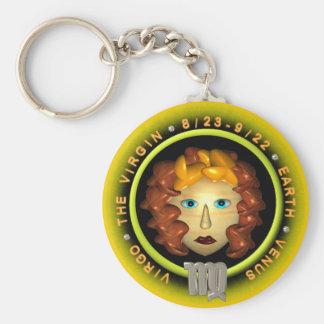 Valxart Virgo zodiac logo Keychain