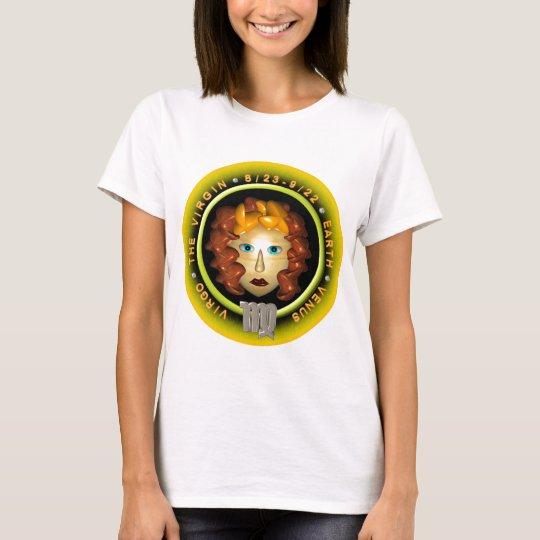 Valxart Virgo zodiac logo T-Shirt
