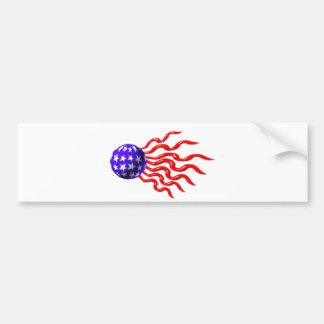 ValxArt wavey red,white and blue logo Bumper Sticker
