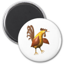 Valxart wood chicken rooster gifts magnet