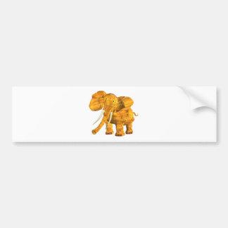 Valxart wood elephant  zodiac friendship coffee mu bumper sticker
