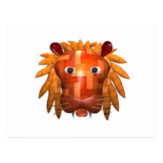 Valxart wood lion gifts postcard