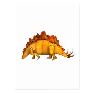 Valxart wood stegosaurus gifts postcard