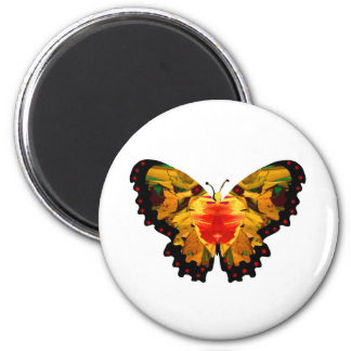 Valxart yellow abstract butterfly magnet