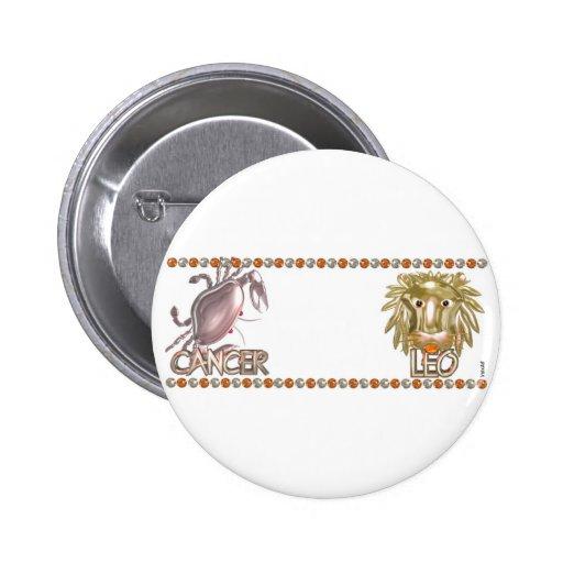 Valxart zodiac Cancer Leo friendship gifts Buttons
