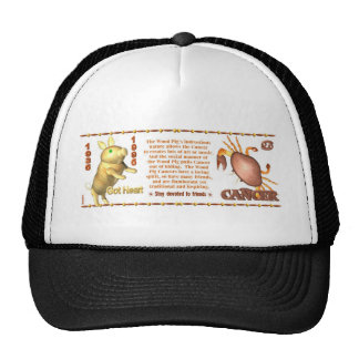 ValxArt Zodiac Cancer wood pig 1935 1995 Mesh Hat