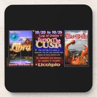 Valxart Zodiac Cusp born Libra Scorpio Beverage Coasters