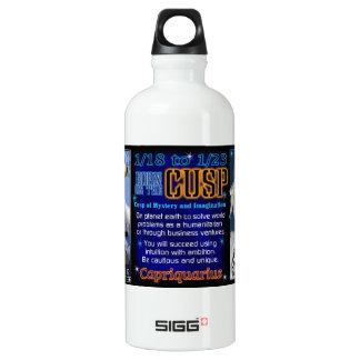 Valxart Zodiac Cusp Capricorn Aquarius Aluminum Water Bottle