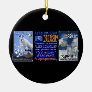 Valxart Zodiac Cusp Capricorn Aquarius Ceramic Ornament