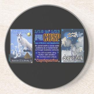 Valxart Zodiac Cusp Capricorn Aquarius Beverage Coaster
