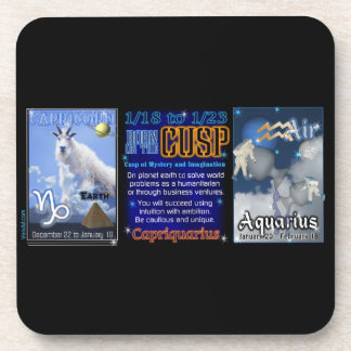 Valxart Zodiac Cusp Capricorn Aquarius Beverage Coasters