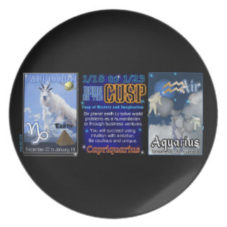 Valxart Zodiac Cusp Capricorn Aquarius Party Plates