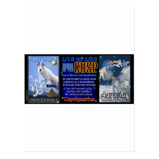 Valxart Zodiac Cusp Capricorn Aquarius Postcard