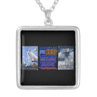 Valxart Zodiac Cusp Capricorn Aquarius Square Pendant Necklace