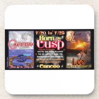 Valxart zodiac Cusp of Cancer Leo Beverage Coaster