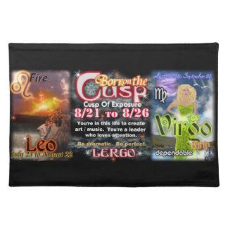 Valxart Zodiac Cusp of Leo  Virgo Cloth Placemat