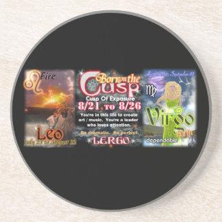 Valxart Zodiac Cusp of Leo  Virgo Beverage Coaster
