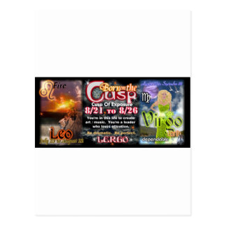 Valxart Zodiac Cusp of Leo  Virgo Postcard