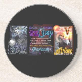 Valxart Zodiac Cusp Pisces Aries Beverage Coasters