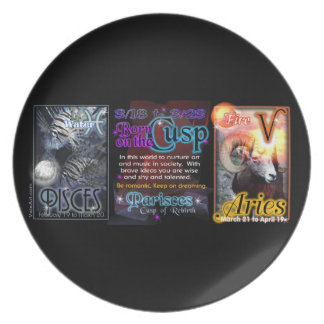 Valxart Zodiac Cusp Pisces Aries Party Plate