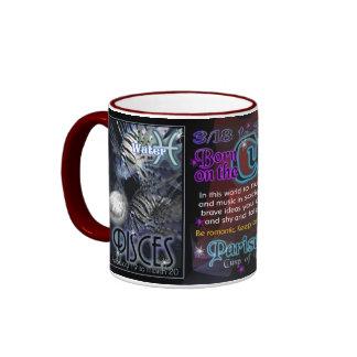 Valxart Zodiac Cusp Pisces Aries Ringer Coffee Mug
