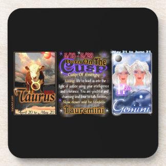 Valxart zodiac Cusp Taurus Gemini Beverage Coaster