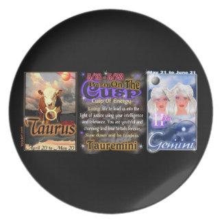Valxart zodiac Cusp Taurus Gemini Dinner Plates
