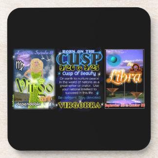 Valxart Zodiac Cusp Virgo Libra Drink Coasters
