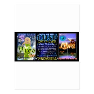 Valxart Zodiac Cusp Virgo Libra Postcard