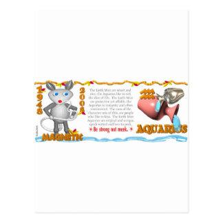 Valxart Zodiac earth rat Aquarius 1948 2008 Postcard