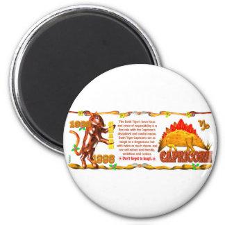 ValxArt Zodiac earth tiger Capricorn born 1998 2 Inch Round Magnet