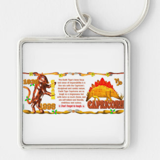 ValxArt Zodiac earth tiger Capricorn born 1998 Key Chains