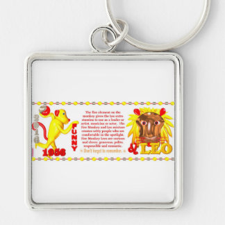 ValxArt zodiac fire monkey Leo born 1956 2016 Keychain