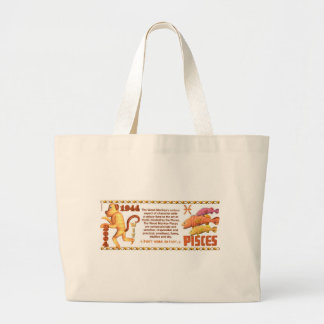 ValxArt Zodiac Pisces wood monkey 1944 2004 Large Tote Bag