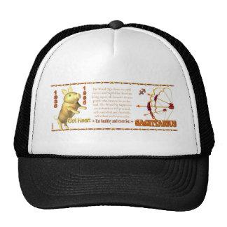 Valxart zodiac Sagittarius Wood Pig 1935 1995 Trucker Hat