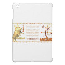 Valxart zodiac Sagittarius Wood Pig 1935 1995 iPad Mini Case