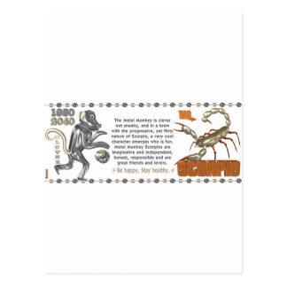 Monkey chinese symbol postcards amp postcard template designs zazzle