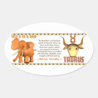 ValxArt Zodiac Taurus Metal Bull 1961 2021 Oval Sticker