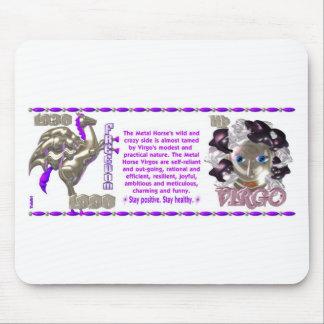 ValxArt Zodiac Virgo Metal Horse 1930 1990 Mouse Pad