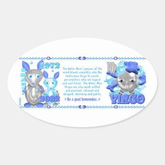 ValxArt Zodiac water rat born Virgo 1972 2032 Oval Sticker