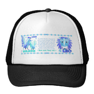 ValxArt Zodiac water rooster born 1933 1993 Trucker Hat