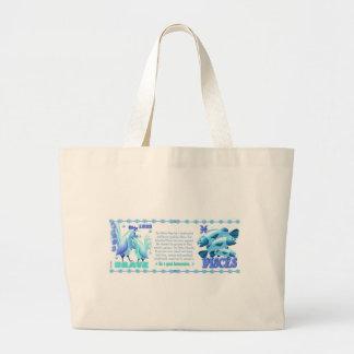 ValxArt Zodiac water rooster Pisces 1933 1993 Jumbo Tote Bag