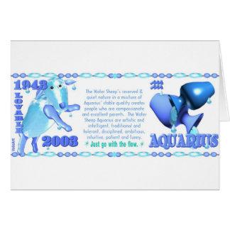 ValxArt Zodiac water sheep born Aquarius 1943 2003 Card