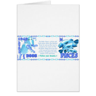 ValxArt Zodiac water sheep born Pisces 1943 2003 Card